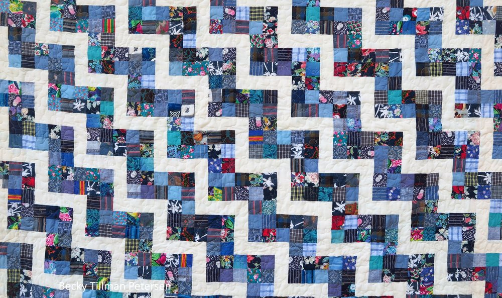 Scrappy Rail Fence Quilt Pattern Closer Look