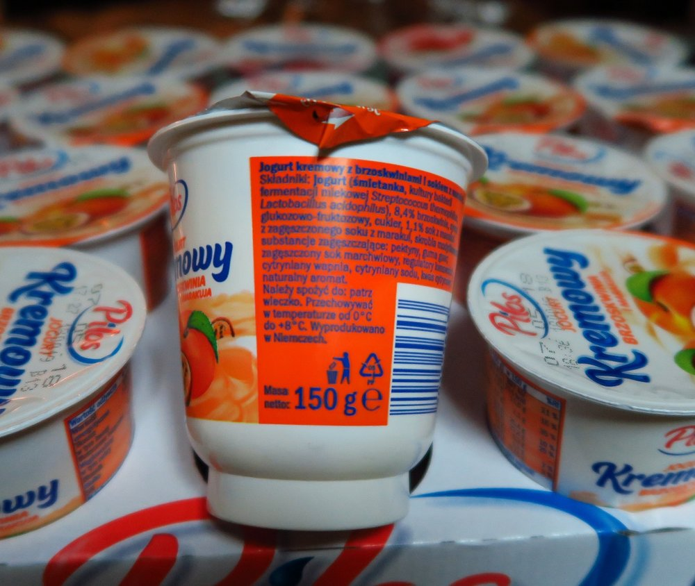 150 grams is 5.29 ounces. This little container of yogurt is not very expensive, though. It is about $.40.