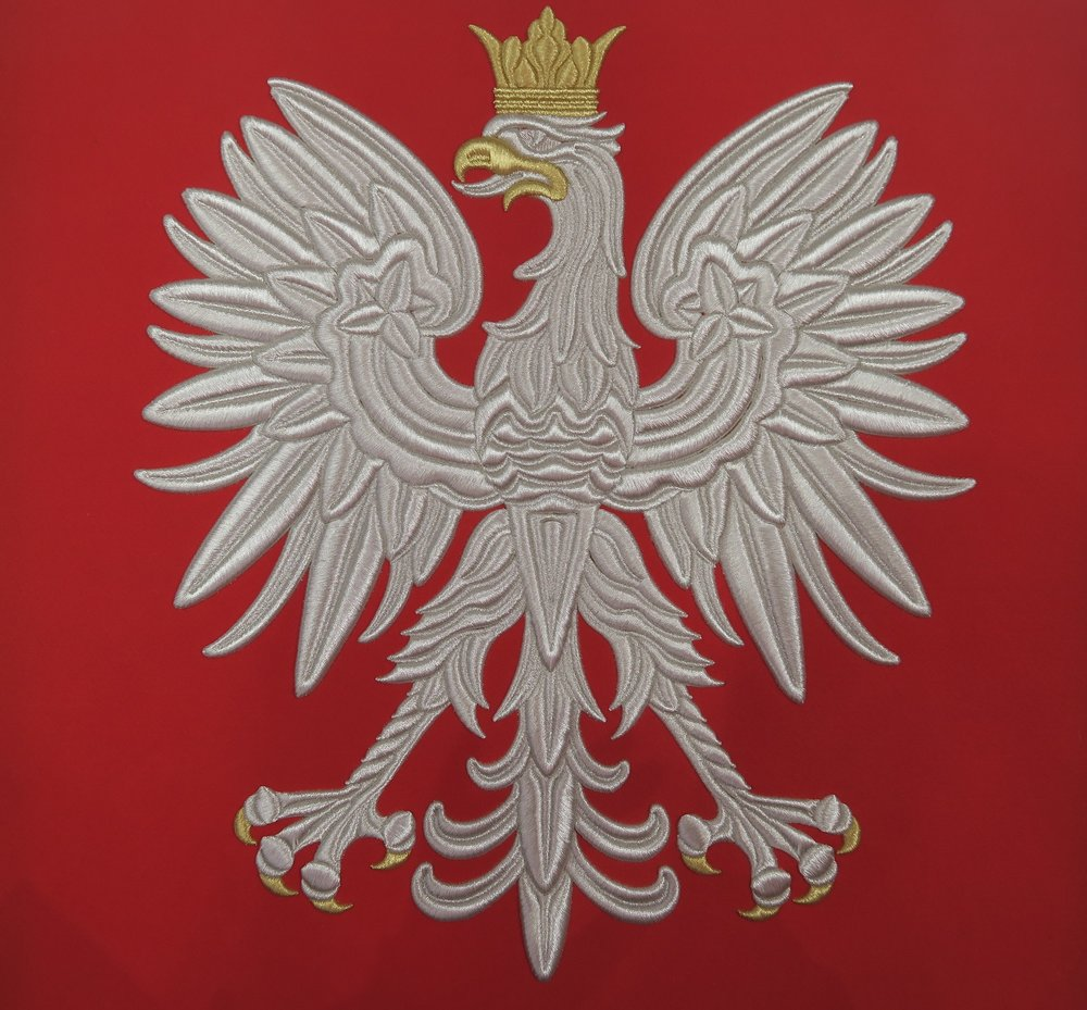 """This is the Polish national emblem. It is the """"white eagle""""."""