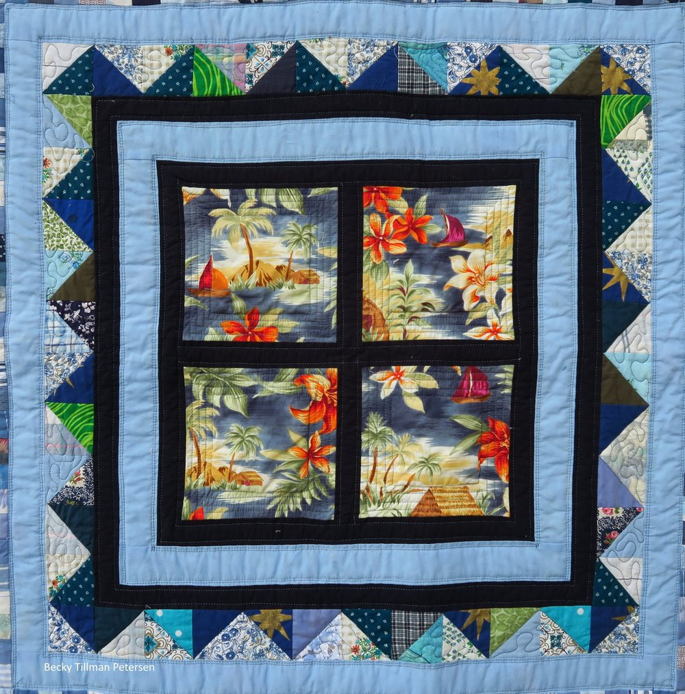 I was hoping for a basic window effect without it really being an attic window - since I didn't want that.  However, these were all small squares - not one big piece of shirting cut into four. I fussy cut nice scenes out of the back - hoping it would turn out pretty.