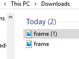 """The file is creatively named """"frame"""". I downloaded mine 2x accidentally."""