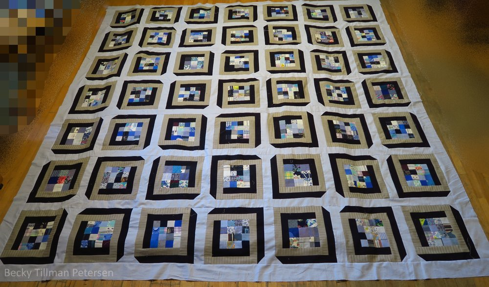 This whole quilt is based once again on only one block.
