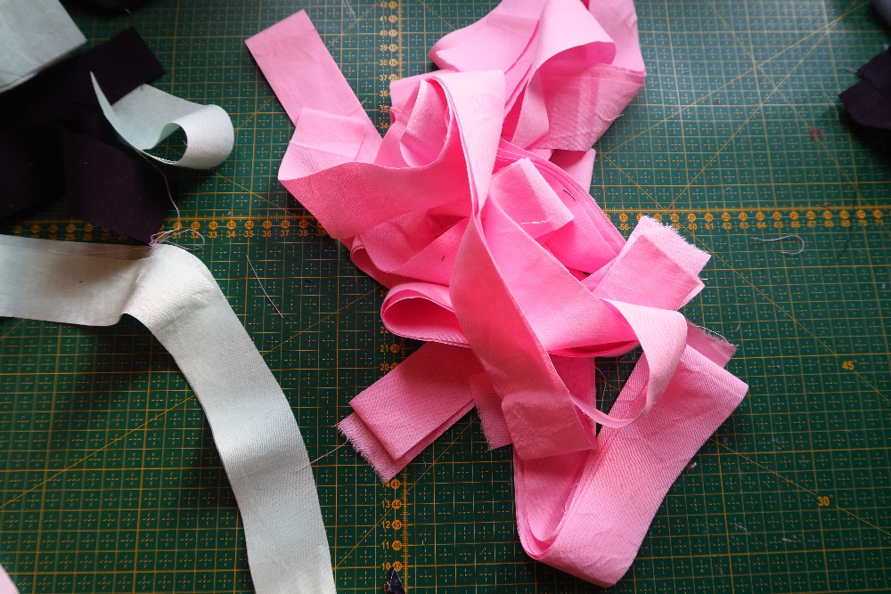 Here are my pink strips. This one makes the pink look quite dark. It's not as dark in real life.