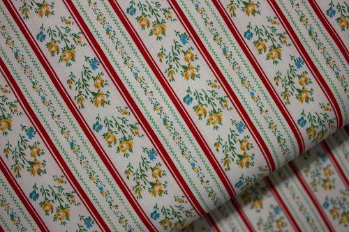 Stripe Floral Ticking