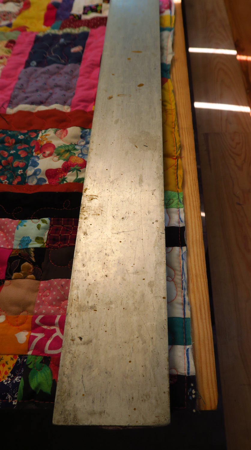 I had to clean my husband's 3 meter metal level with soap and water. I know it looks dirty, but actually that's pretty clean!