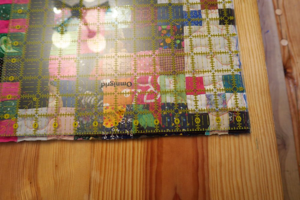 I used my large square ruler to join the edge - I marked it using the washable marker.