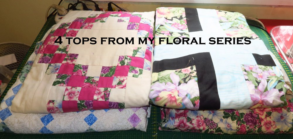 These are from my floral series - featuring flowers quite prominently. 4 tops.