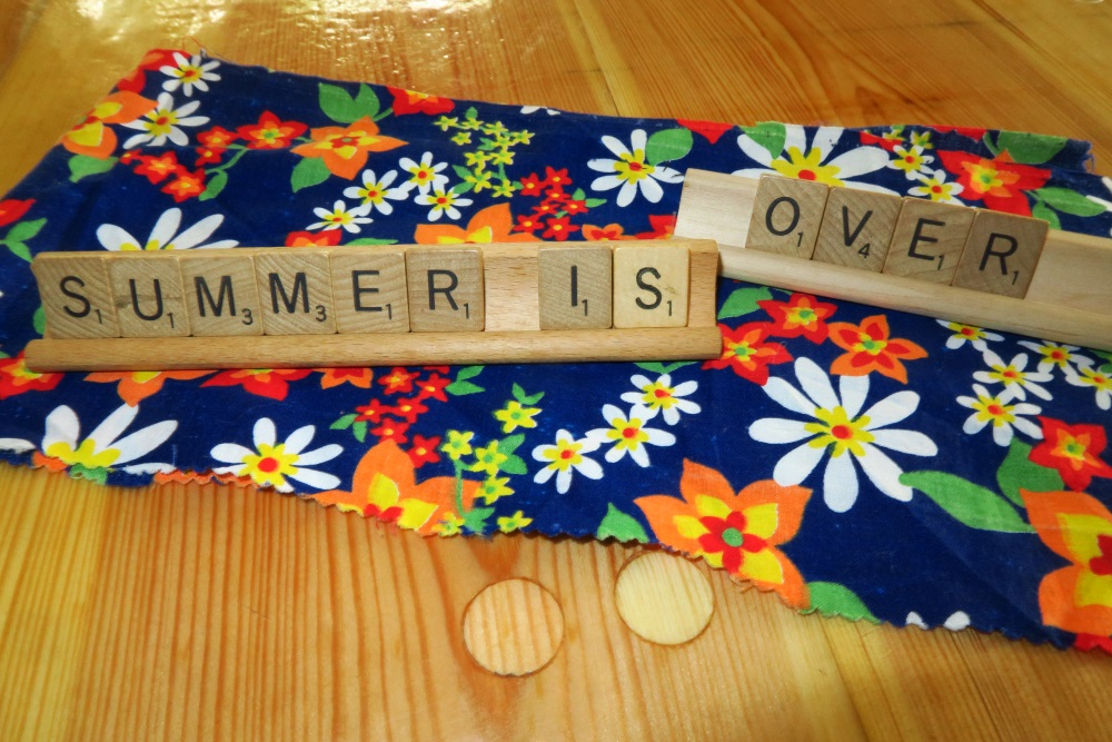 """Whenever I hear this phrase, I think of the Bible verse, Jeremiah 8:20  """"The harvest is past, the summer is ended, and we are not saved"""". I just couldn't help myself. I had to put that in there. Totally not quilting related. Not really."""