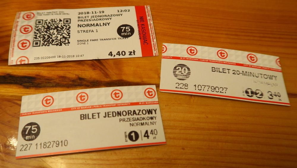 Our total tickets we had to buy today. They cost a total of 12.20 zl which is $3.23 USD at today's exchange rate. We both went, so that is what it cost each of us.