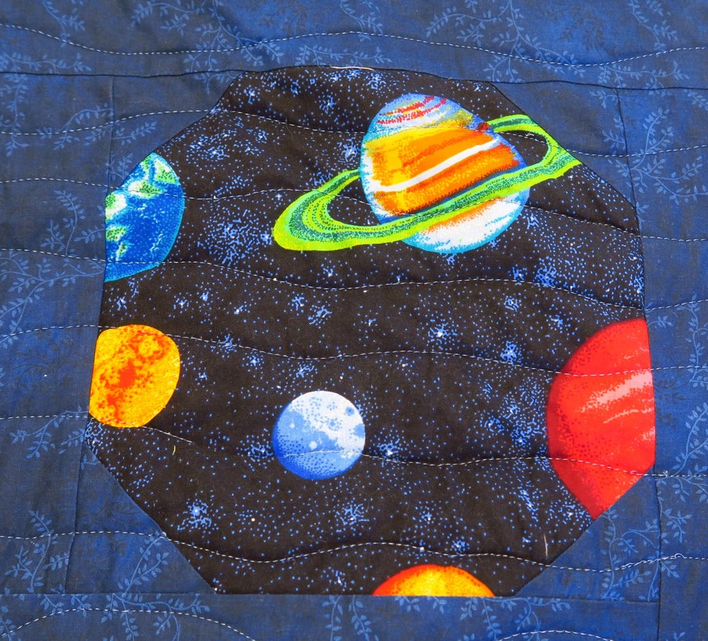 Navy with Planets: Galaxies