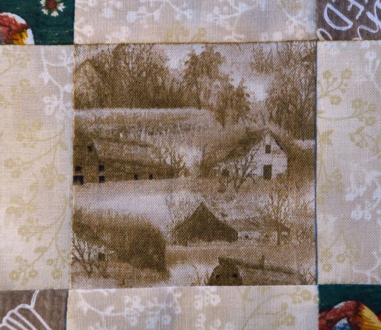 """Isn't this center fabric """"cool""""? I really like it. You can get yours  here  if you want (at least when this post was published, you could!)"""