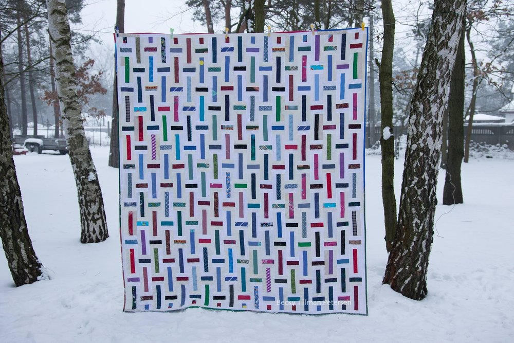 Lawn Chair Quilt  (another rail fence variation)