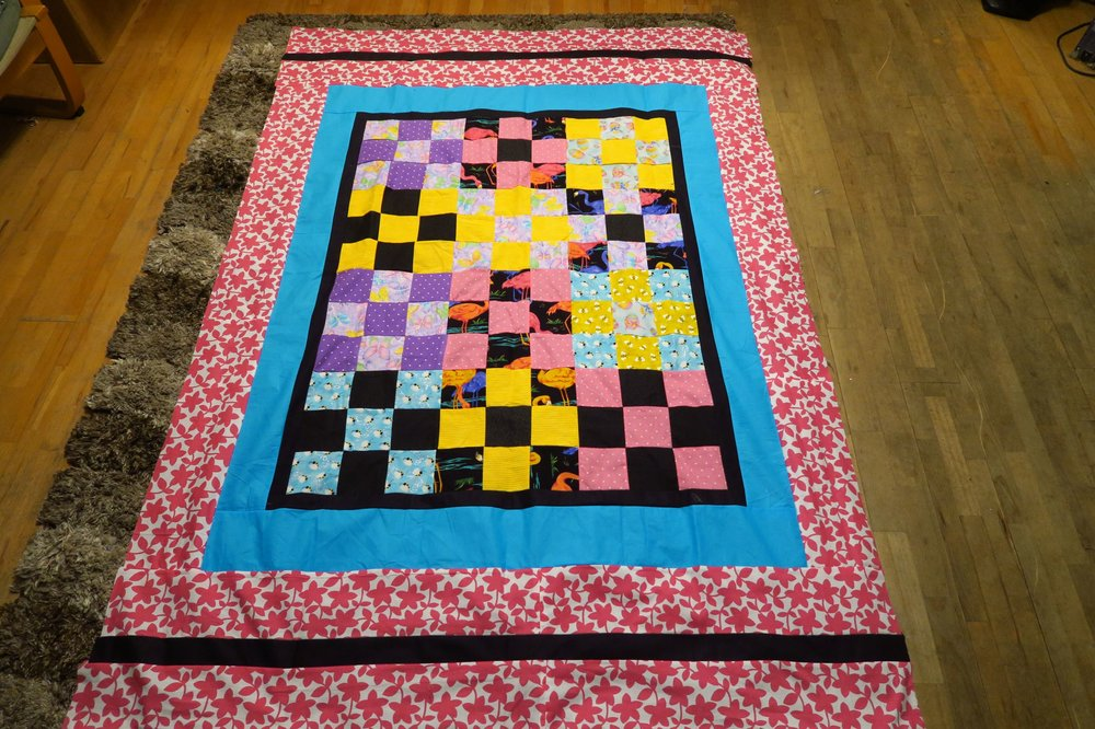 Fran made the center. I added the borders.