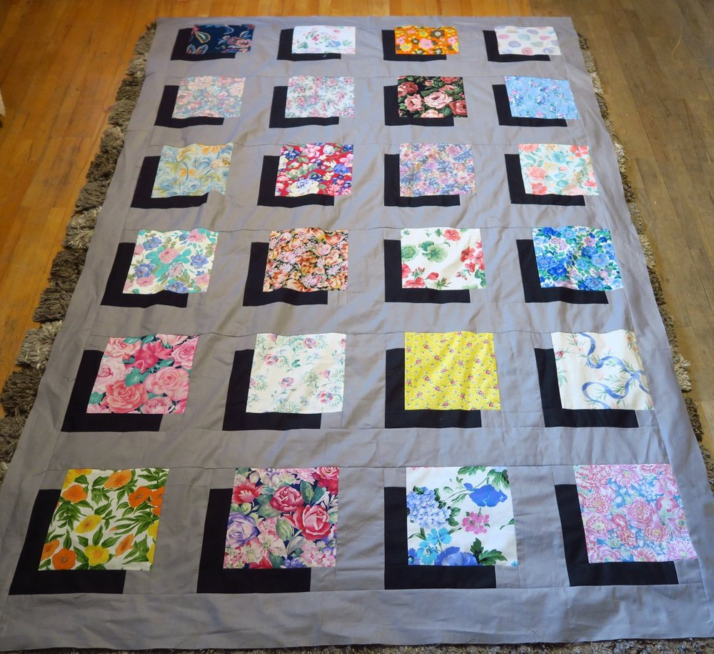 Floral shadow quilt