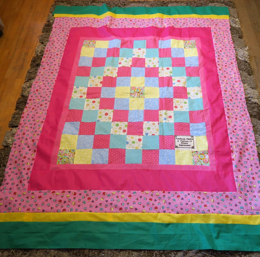 Fran made the center, I added the borders.