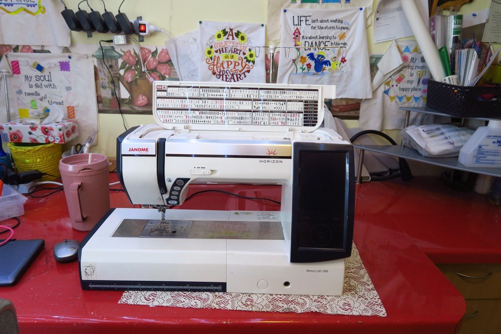 Janome 12000 - Like most, once I used a small embroidery machine, I wanted a larger one!