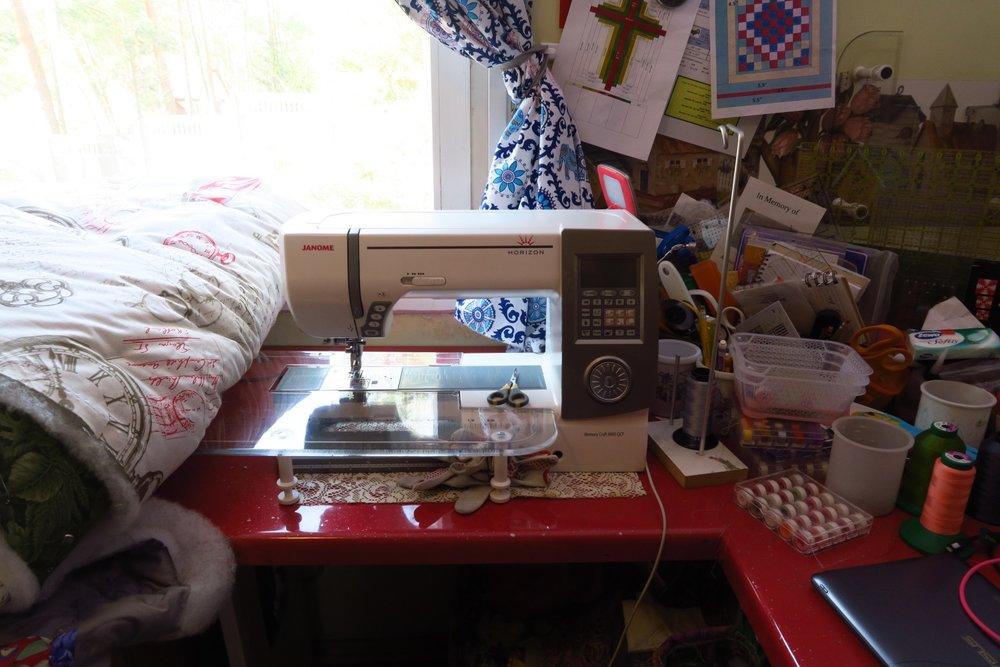 My Janome 8900 - my main quilting machine