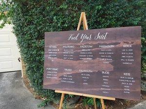 Wedding Seating Chart Seating Plan Wedding Sign Wooden Sign
