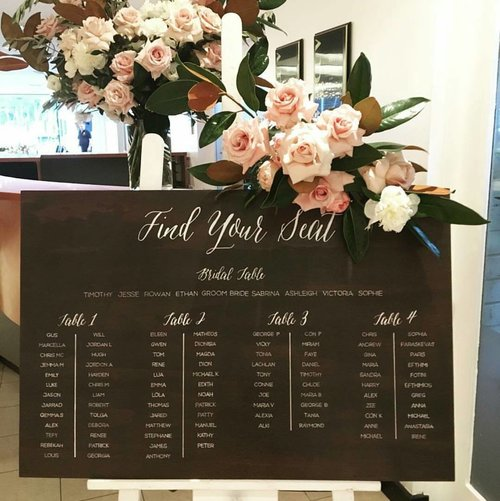 Wedding Seating Plan Wooden Wedding Sign Seating Chart Find Your