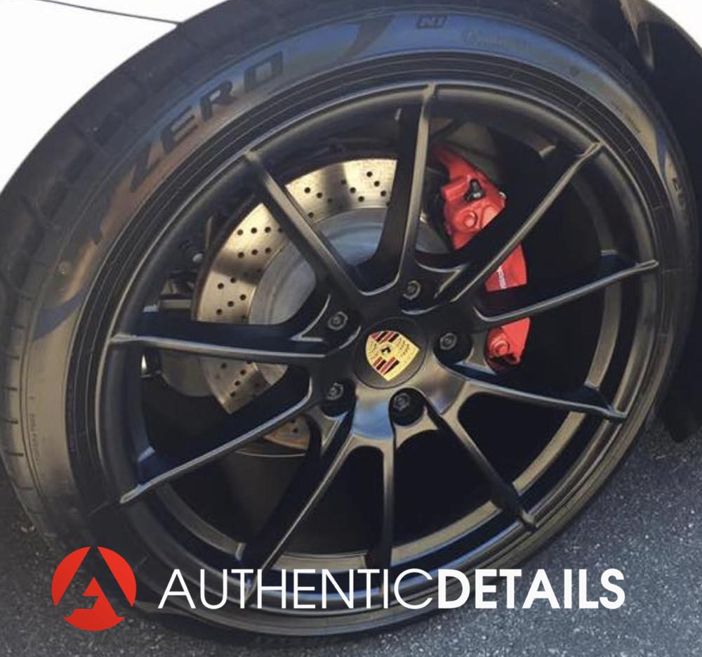 Perfectly detailed Porsche Boxster Spyder wheel