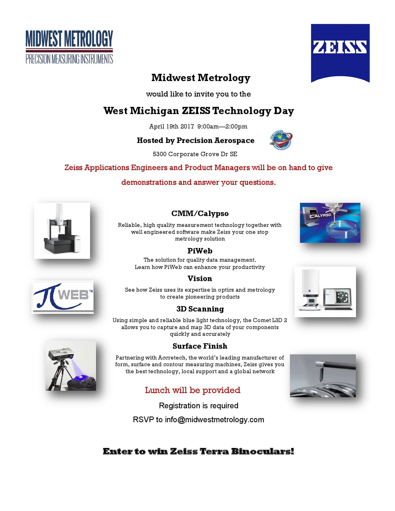 West Michigan ZEISS Technology Day - Hosted by Precision Aerospace