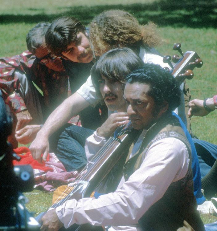 George Harrison RIngo Star and Ravi Shankar at Esalen.jpg