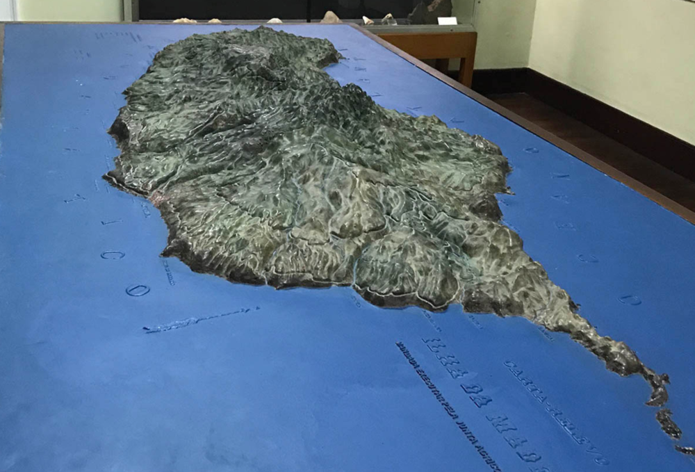 3D Map displaying the natural valleys and peaks found on the island of Madeira