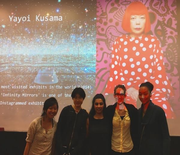 From left-to-right: Miki Nobumori, Yunting Liu, Trisha Suri, Bria Best, Christyne Tyler