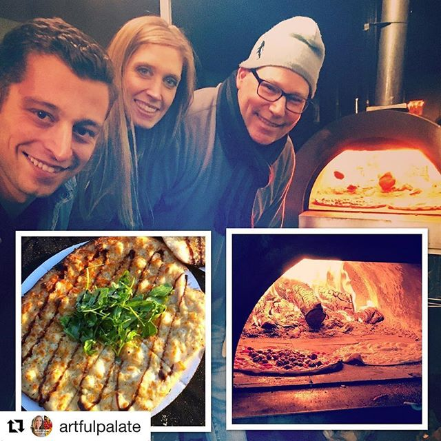 #Repost @artfulpalate ・・・ The wood-fired pizzas last night were exceptional 👌🏼created by this father/son duo from Woodinville based  @dogfathercatering! My fav: Herb and garlic with fresh arugula and balsamic glaze😋 @threeofcupswinery Fall Release Party🍷