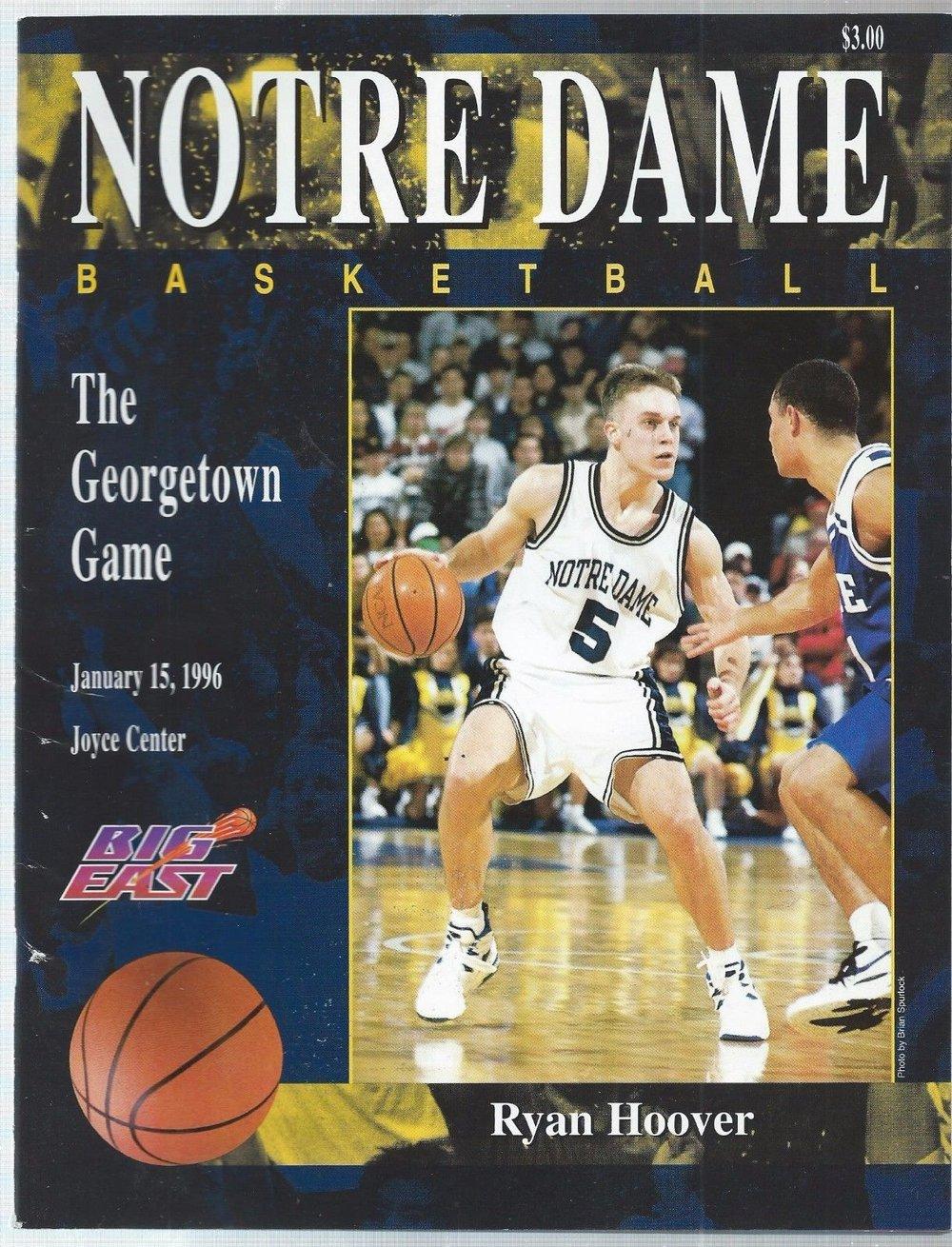 `1995-96 Notre Dame Fighting Irish program.