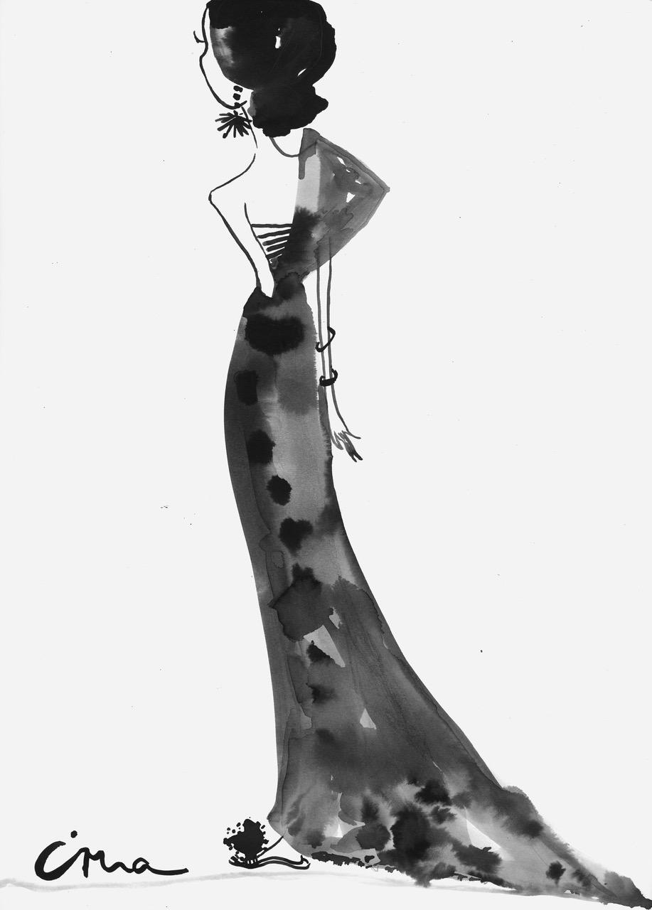 Image of Irma in a sari created for V Beauty by Jasmin Khezri www.irmasworld.com