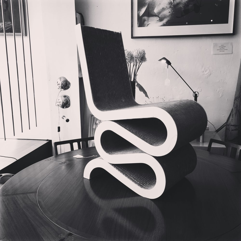 SOLD - WIGGLE CHAIR BY GEHRY - SOLD