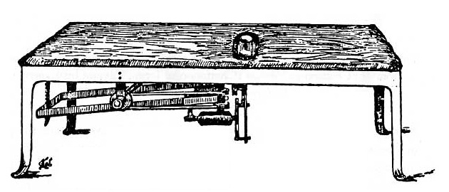 An early vibrating table design