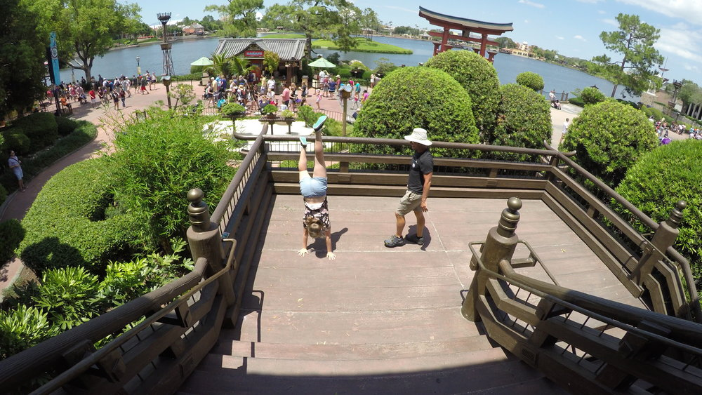 Handstands in 'China' at Epcot