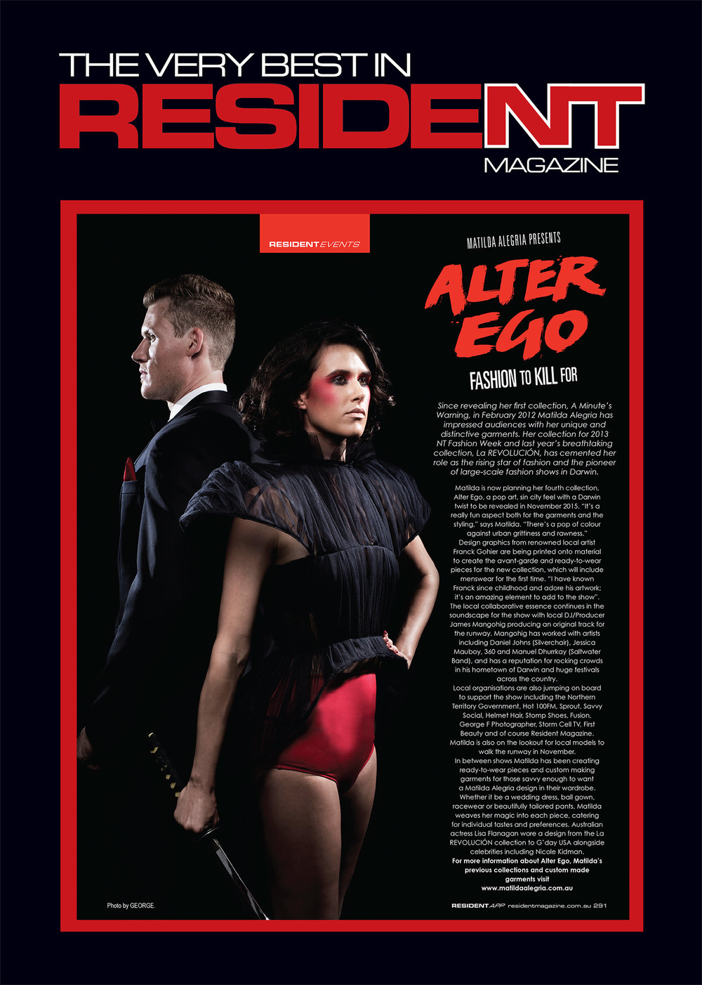 Resident Magazine feature, Alter Ego