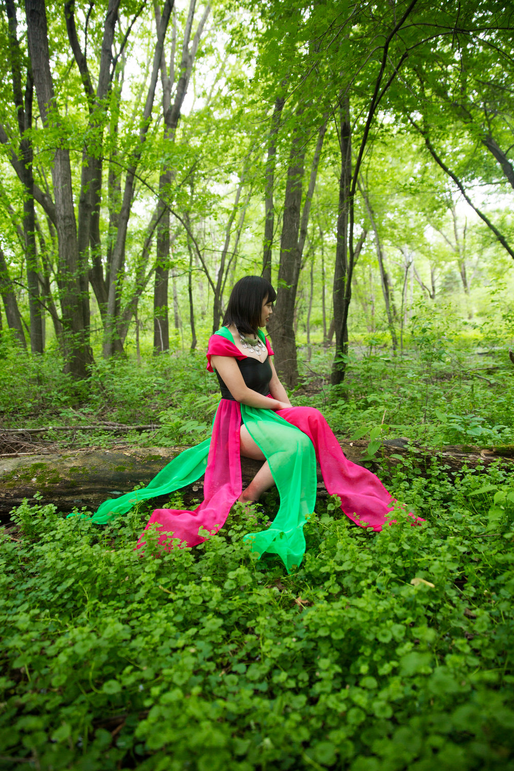 Model: Mihoko Xiong Dress: Kachia Lee Designs Second Shooter: Touchaingkong Yang Assistant: Yer Vang Location: Sister's back yard Jewelry from Hmong ABC