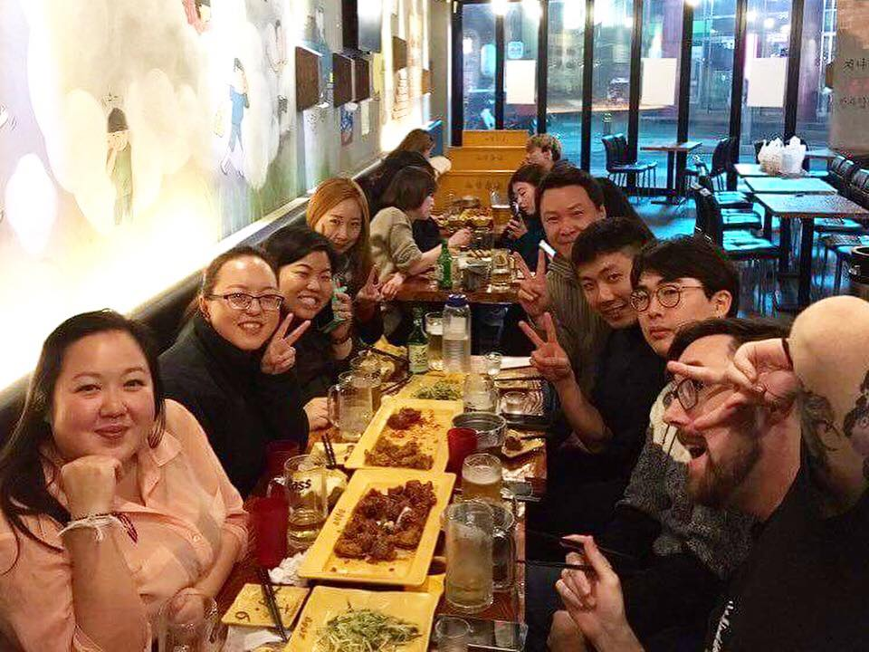Celebrating my 26th birthday in Korea with friends. Photo by Mina Choi