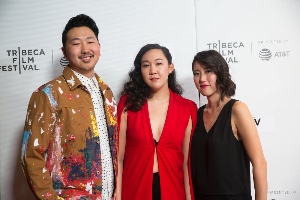 Director Andrew, Writer and Actor Naomie, and Producer Carolyn at Tribeca Film Festival.
