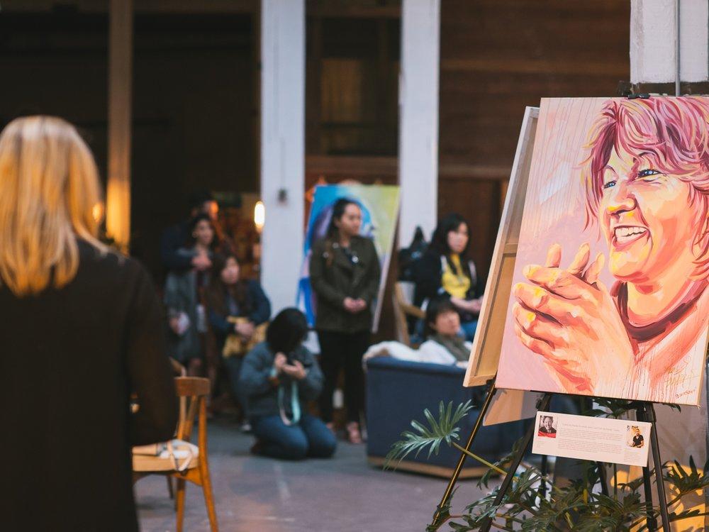Faces of Santa Ana Art Exhibit