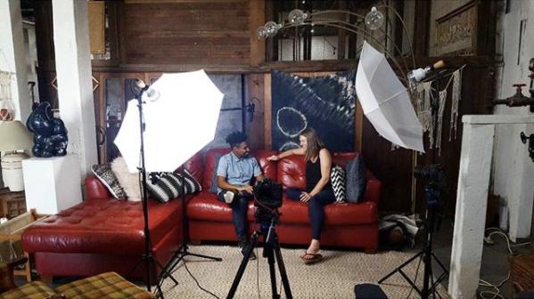 Video Shoot of an interview