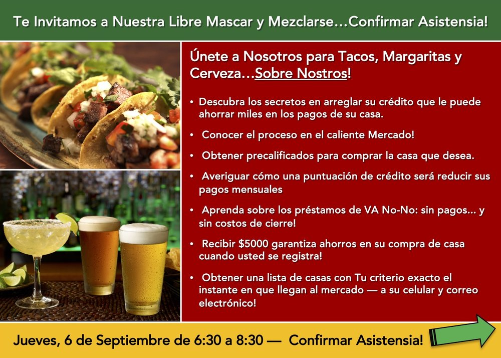 Front of postcard - Taco event on Sept. 6 - Spanish version.jpg