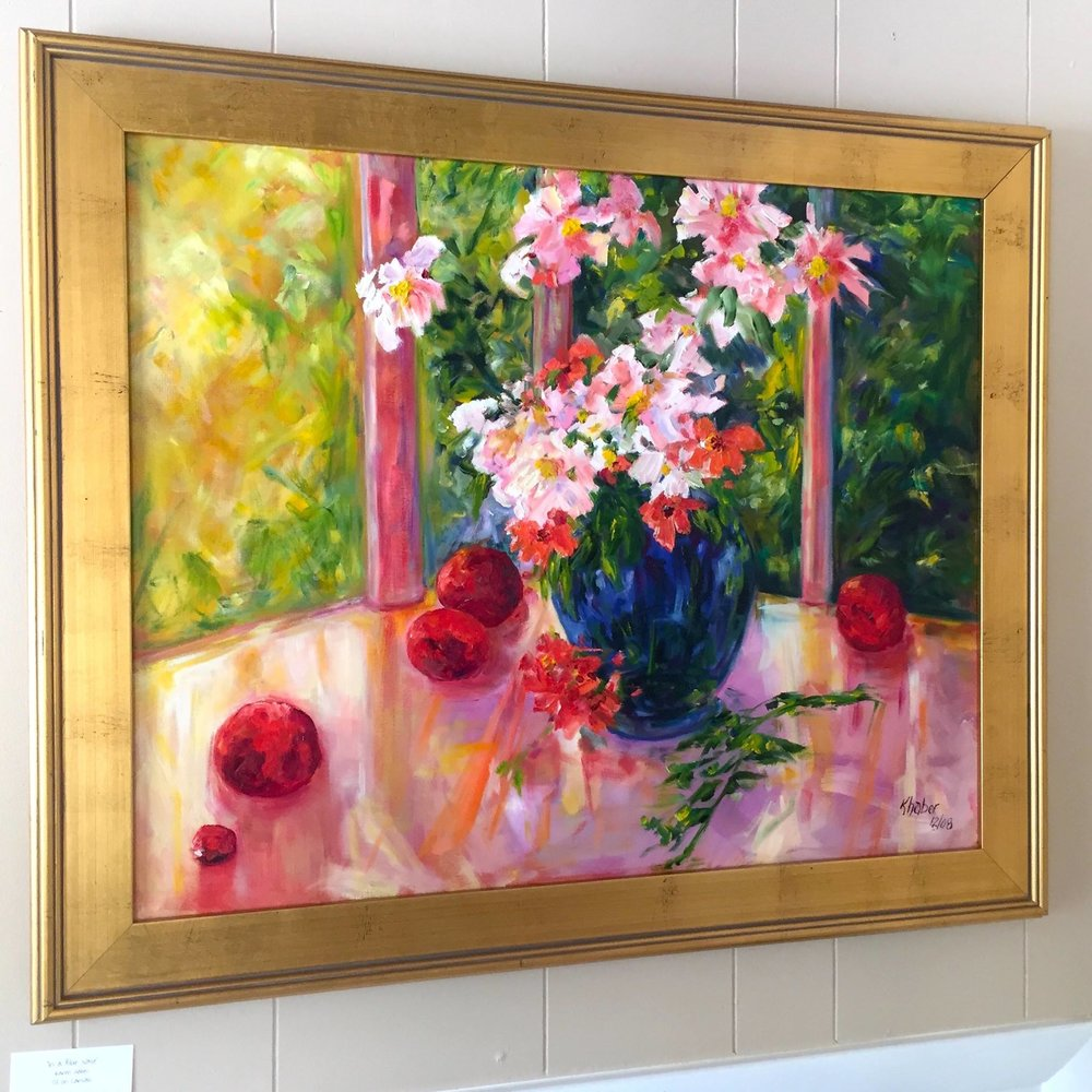 flowers oil painting by Karen Haber