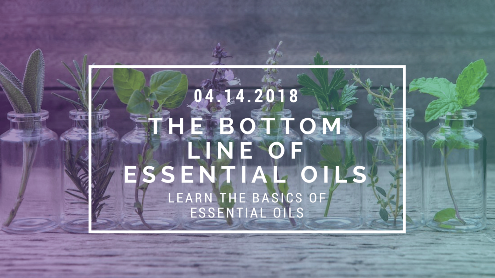 bottom line of essential oils facebook event cover