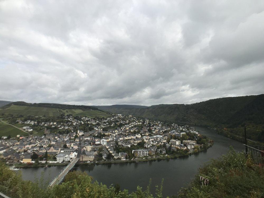 Blick auf Trarbach von der Grevenburg