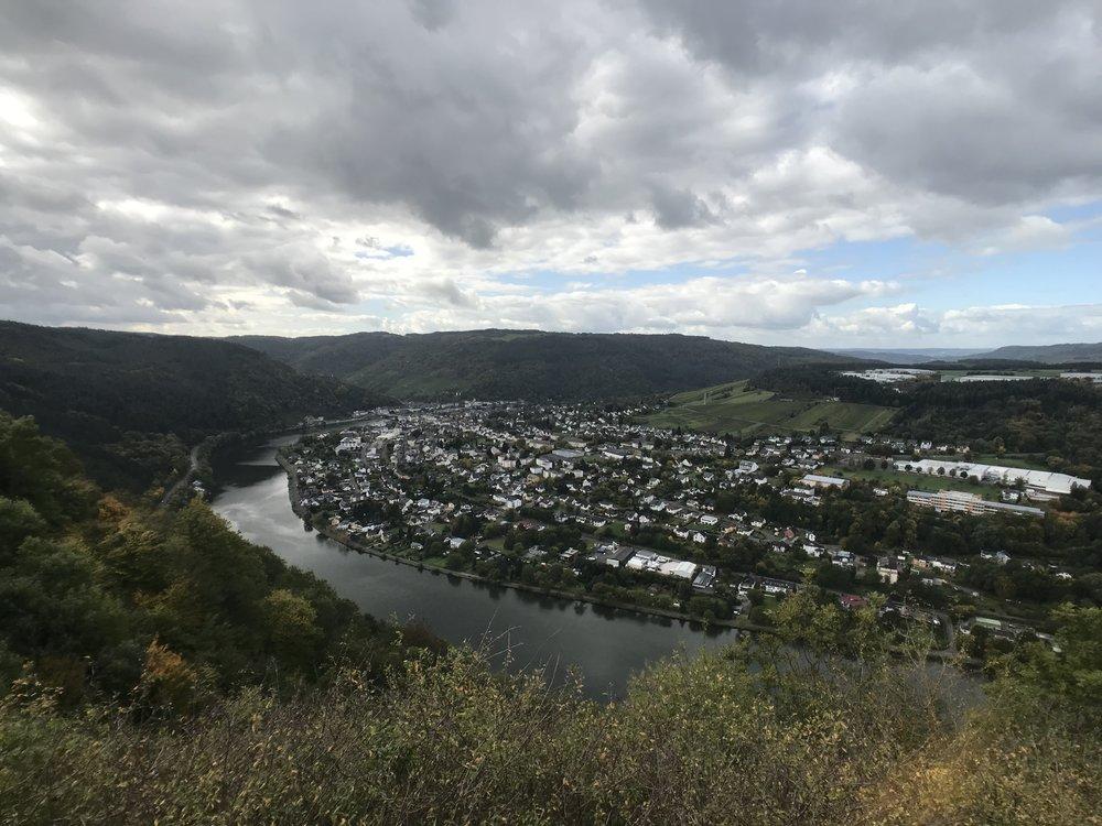 Blick nach Traben-Trarbach von Starkenburg aus