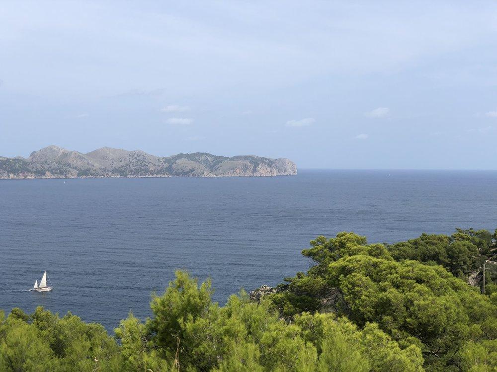 Oben angekommen - Blick auf Cap de Formentor