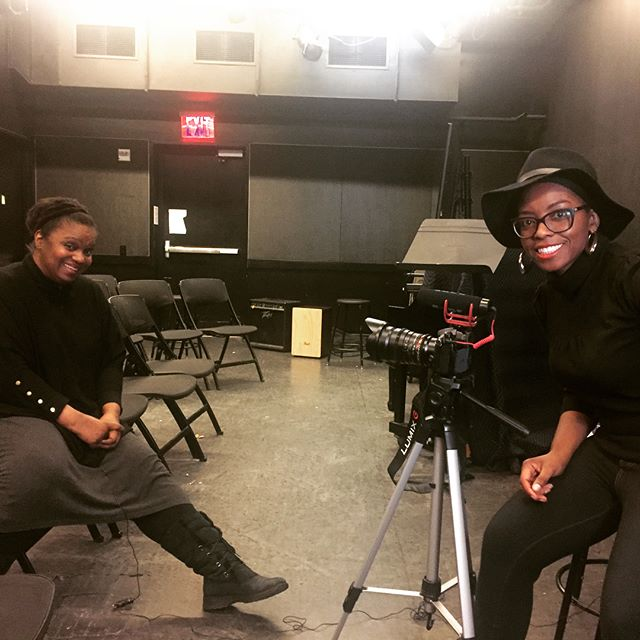 "#Inspired this #morning by such an amazing yesterday! Interviewed Award-winning #playwright Kirsten Childs @KirChildsWriter her musical Bella: An American Tall Tale celebrates a #fullfigured #BlackWoman on her journey from Tupelo, Mississippi to the Wild West! #BigBootyTupeloGirl ""That ain't no #Bustle back there that's my #derrière!"" #LoveHer #filmmaking #doclife #moretocome #NYU"