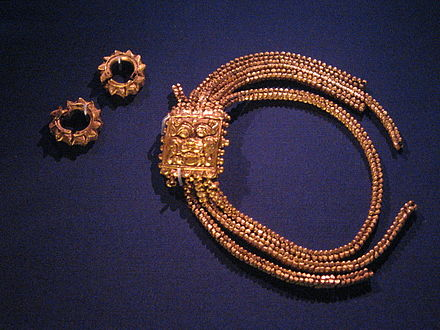 Javanese royal jewellery found at an archeological dig at Ft Canning