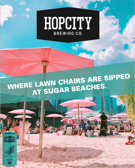 - HOP CITY'S EXOTIC LAWN CHAIRWEISSEBIER.TORONTO'S EXOTIC SUGAR BEACH.