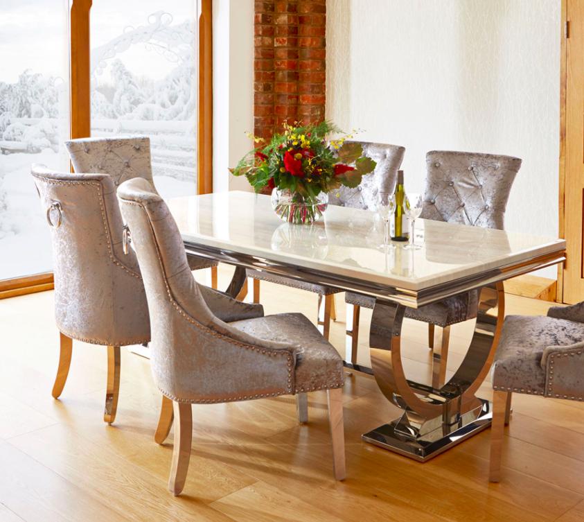 mermer yemek masaları